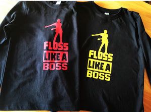KIDS FLOSS LIKE A BOSS T-Shirt (RED FONT)