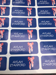 Custom Ballet Stickers set of 18