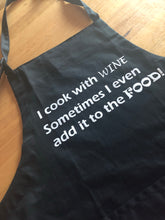"Black Apron ""I cook with wine"""