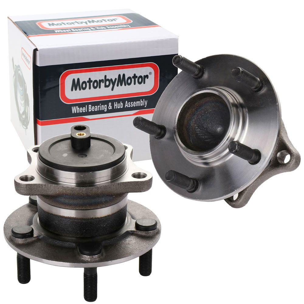 Rear Wheel Bearing Fit 2009-2013 Mazda 6 Wheel Hub with 5 Lugs-w/ABS, 512409 (2 Pack)