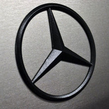 Load image into Gallery viewer, Genuine Black Benz Star Logo Trunk Rear Emblem W205 Badges Modified Decoration