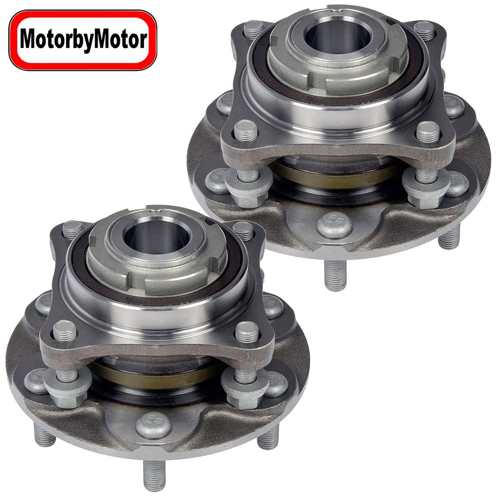 Front Wheel Bearing Fit Toyota 4Runner 2003-2019, FJ Cruiser 2007-2009, Hilux 2015-2017,Tacoma 2015-2019 Wheel Hub w/6 Lugs, RWD, 950-004 (2 Pack)
