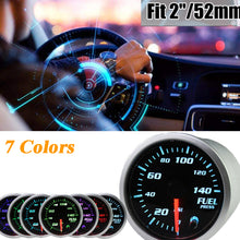 Load image into Gallery viewer, MotorbyMotor Fuel Pressure Gauge 140 PSI Electronic Fuel Gauge Kit 7 Color LED Digital Display Fuel Gauge-Smoked Lens