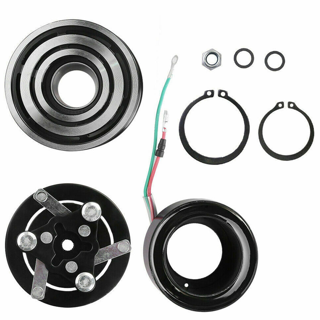 (4 CYL 2.4L ) A/C Compressor Clutch Kit Pulley Coil Fit Honda CR-V 2002-2006  AC Compressor Clutch Kit