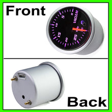 Load image into Gallery viewer, 7 Color Vacuum Gauge Kit-2 Inch 52mm Vacuum Indicator Gauge 0 to 30 in.HG Vacuum Auto Car Meter Smoke Tint Lens 12V