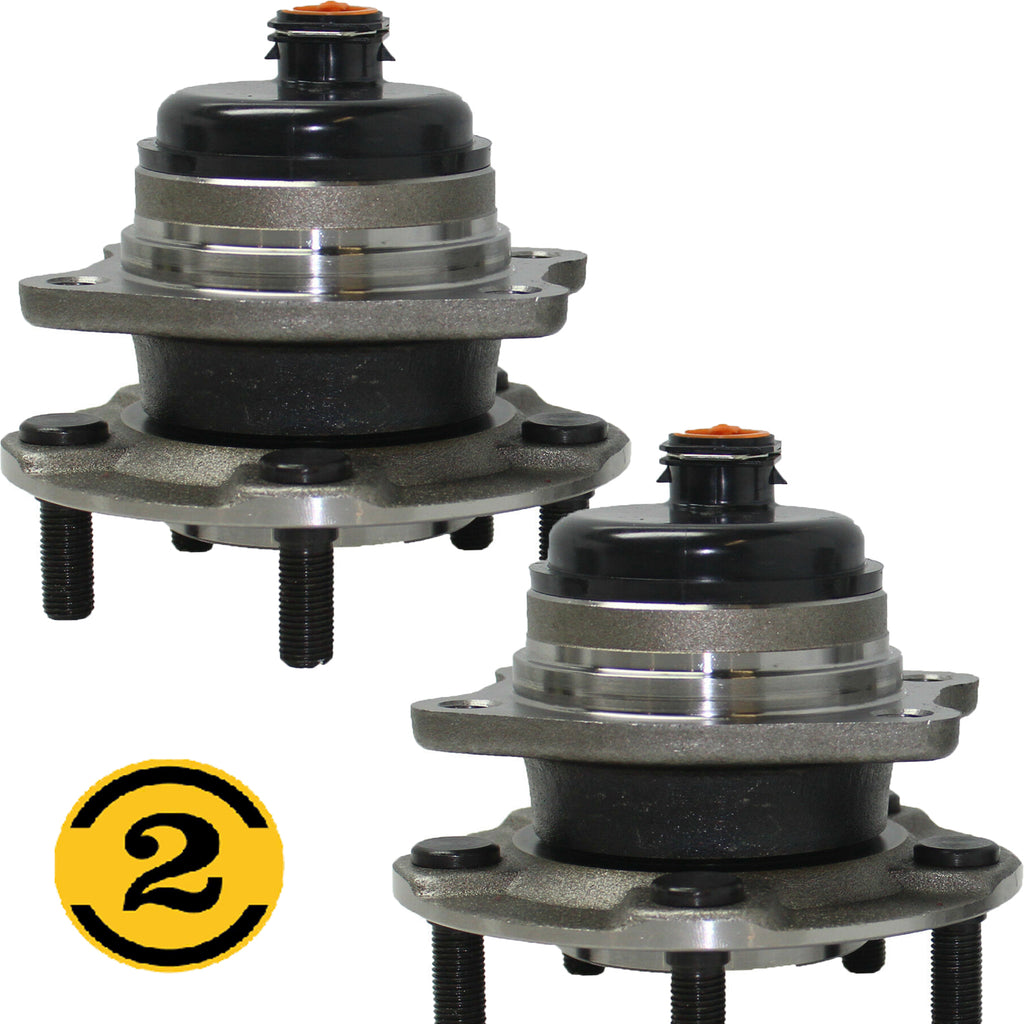 Rear Wheel Bearing Fit Chrysler Voyager, Chrysler Town & Country Dodge Grand Caravan Wheel Hub-5 Lugs w/ABS 2WD FWD-512169 (2 Pack)