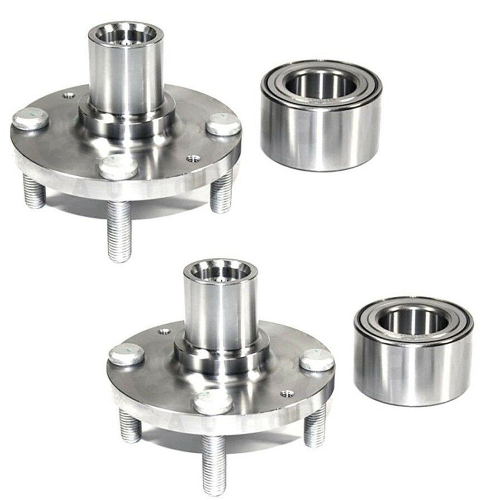 Front Wheel Hub and Bearing Assembly Fit Hyundai Accent 2000-2010, KIA Rio 2006-2011, Kia Rio5 Hub Bearing(2 Pack) w/4 Lugs, Replace 930-604, 510055