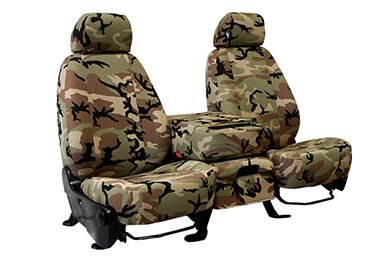 CalTrend Retro Camo Canvas Seat Covers - Old School Camouflage Seat Cover by CalTrend