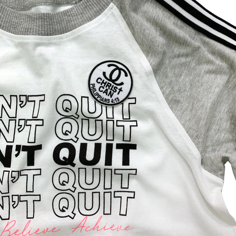 Don't Quit Tee with Christian Patch