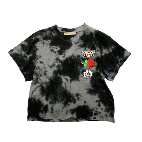 Tie dye Top with Christian Patches