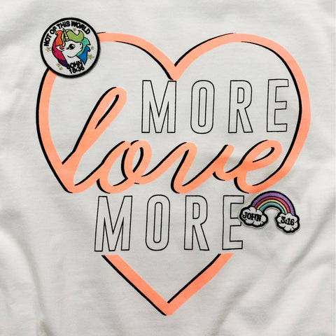 More Love Tee with Christian Patches