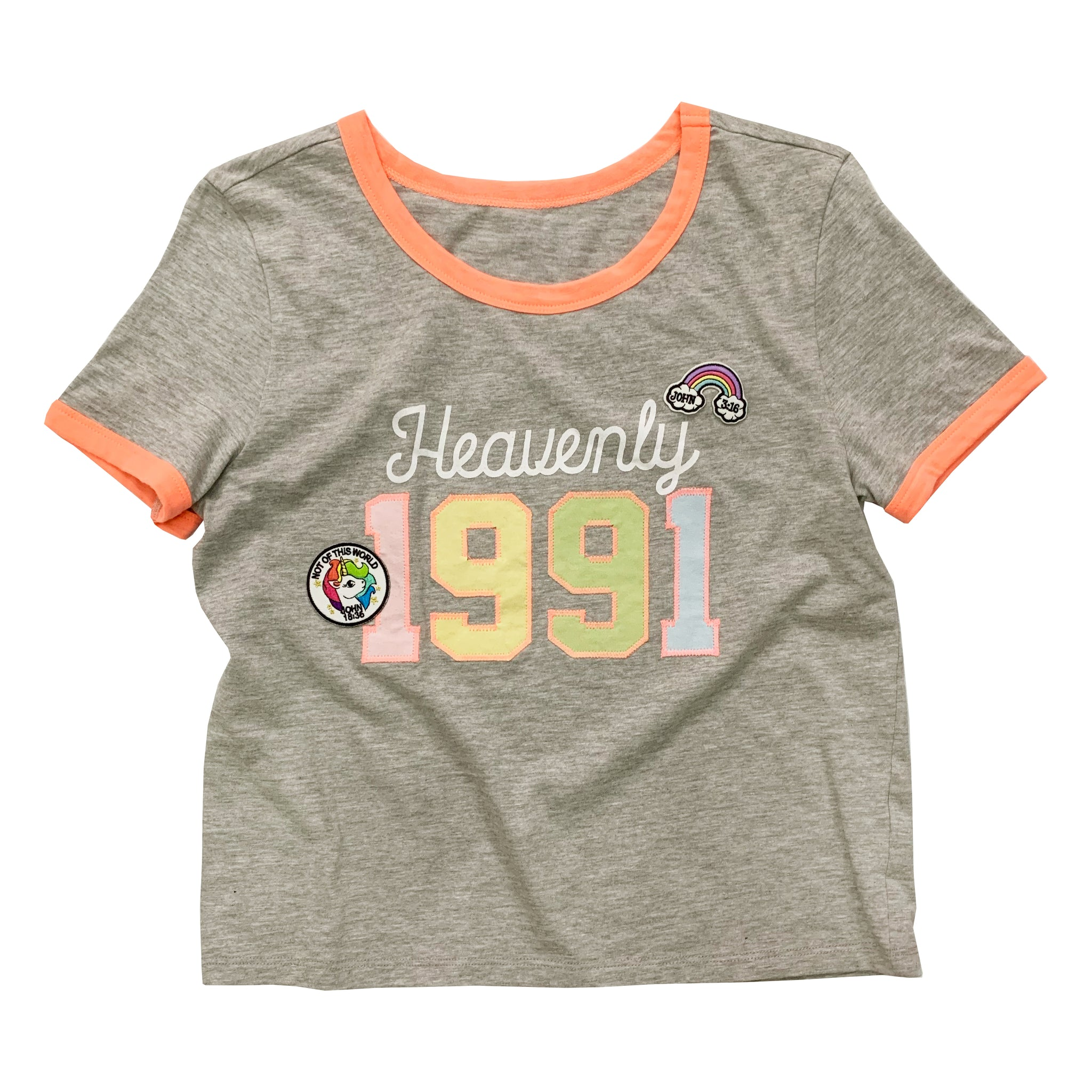 Heavenly 1991 Ringer Patch Tee