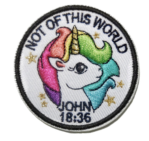 Not Of This World Unicorn Embroidery Patch