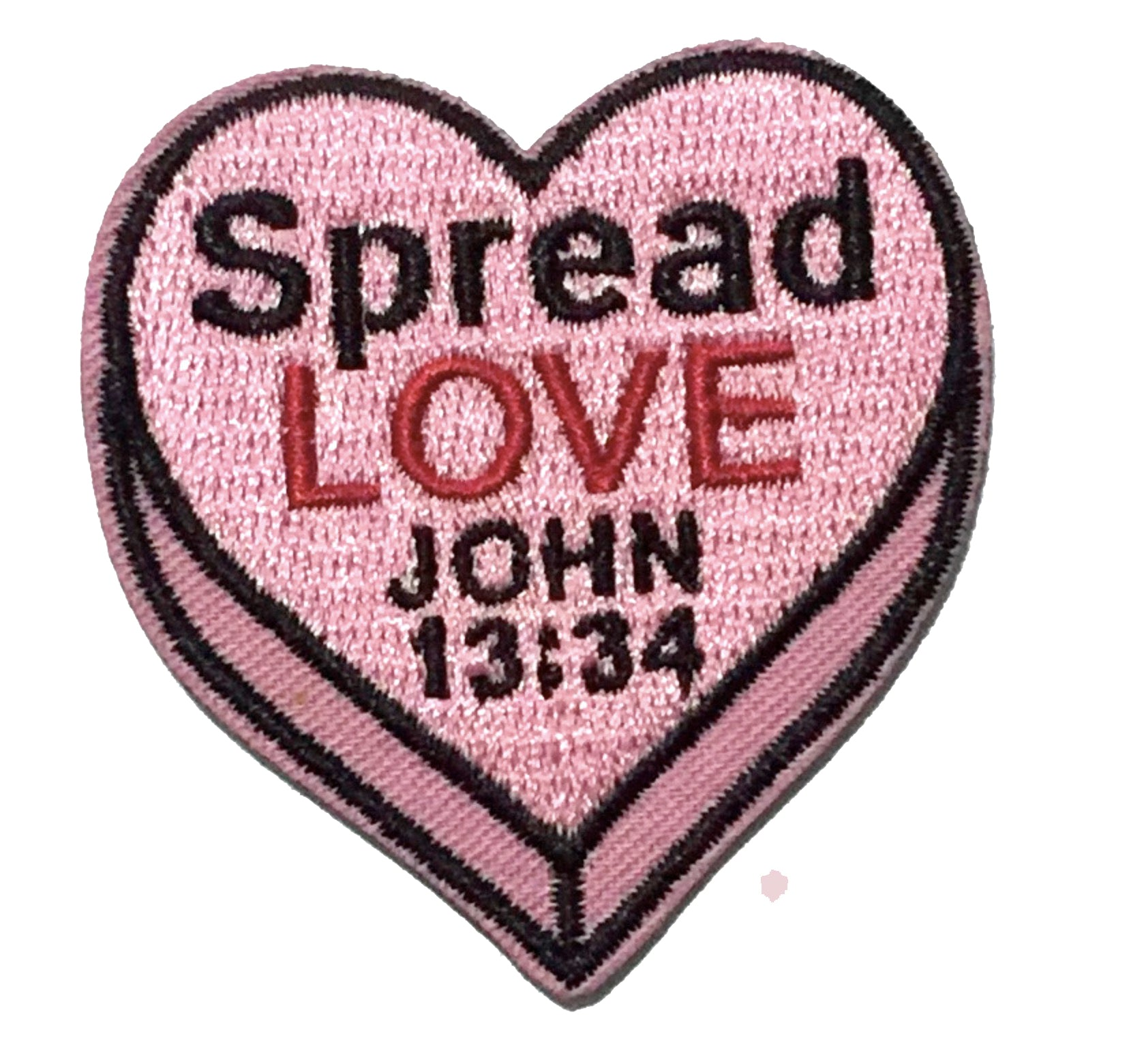 Spread Love Heart Embroidery Patch