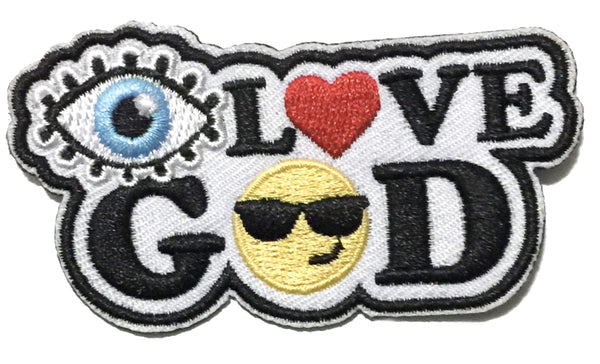 I Love God Embroidery Patch