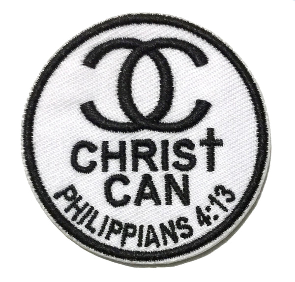 Christ Can Embroidery Patch - Phillipians 4:13