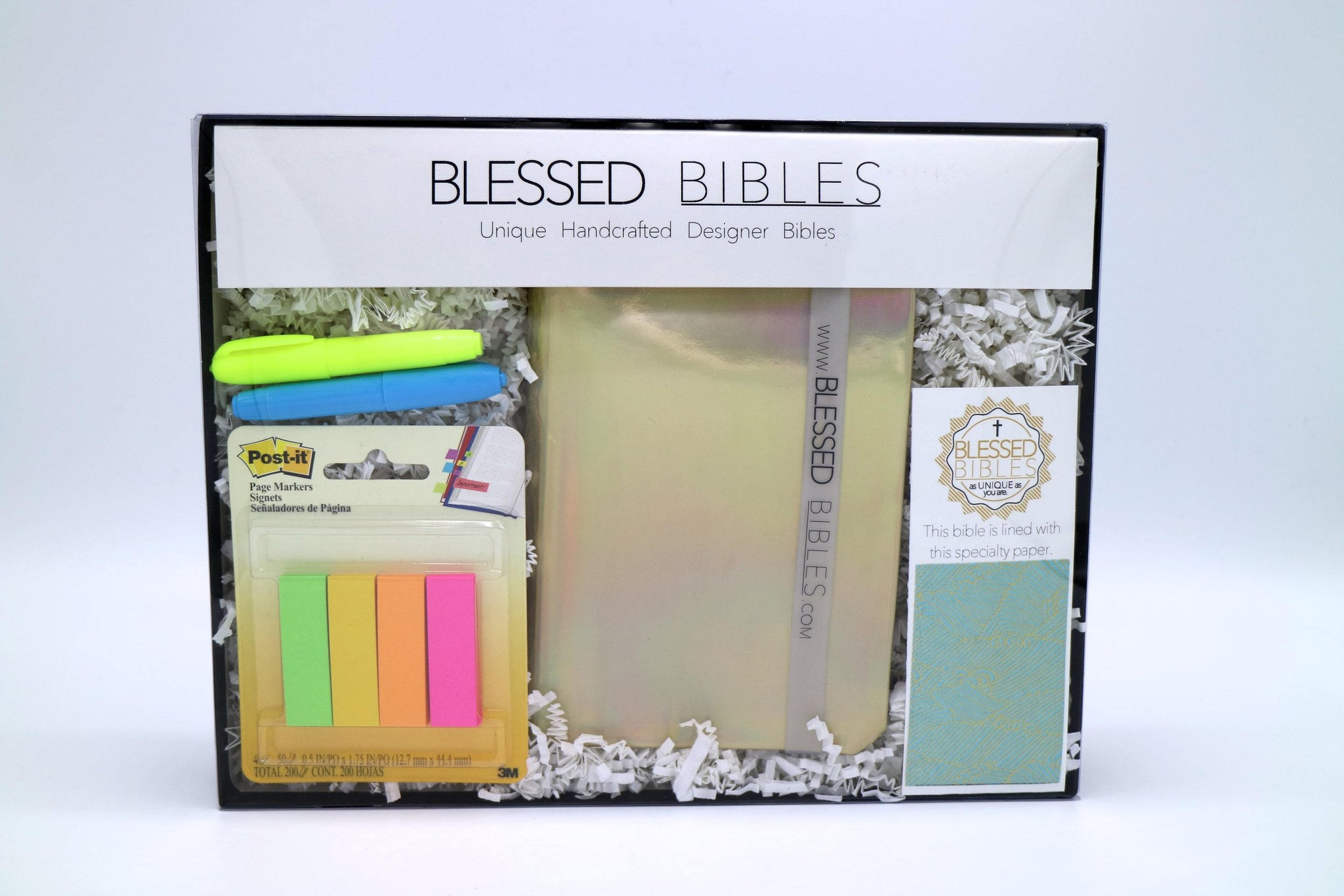 Gold Holographic & Ocean Waves Bible Kit - NKJV