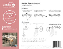 Travel Pack:  Suction Cups for Traveling - All Hung Up