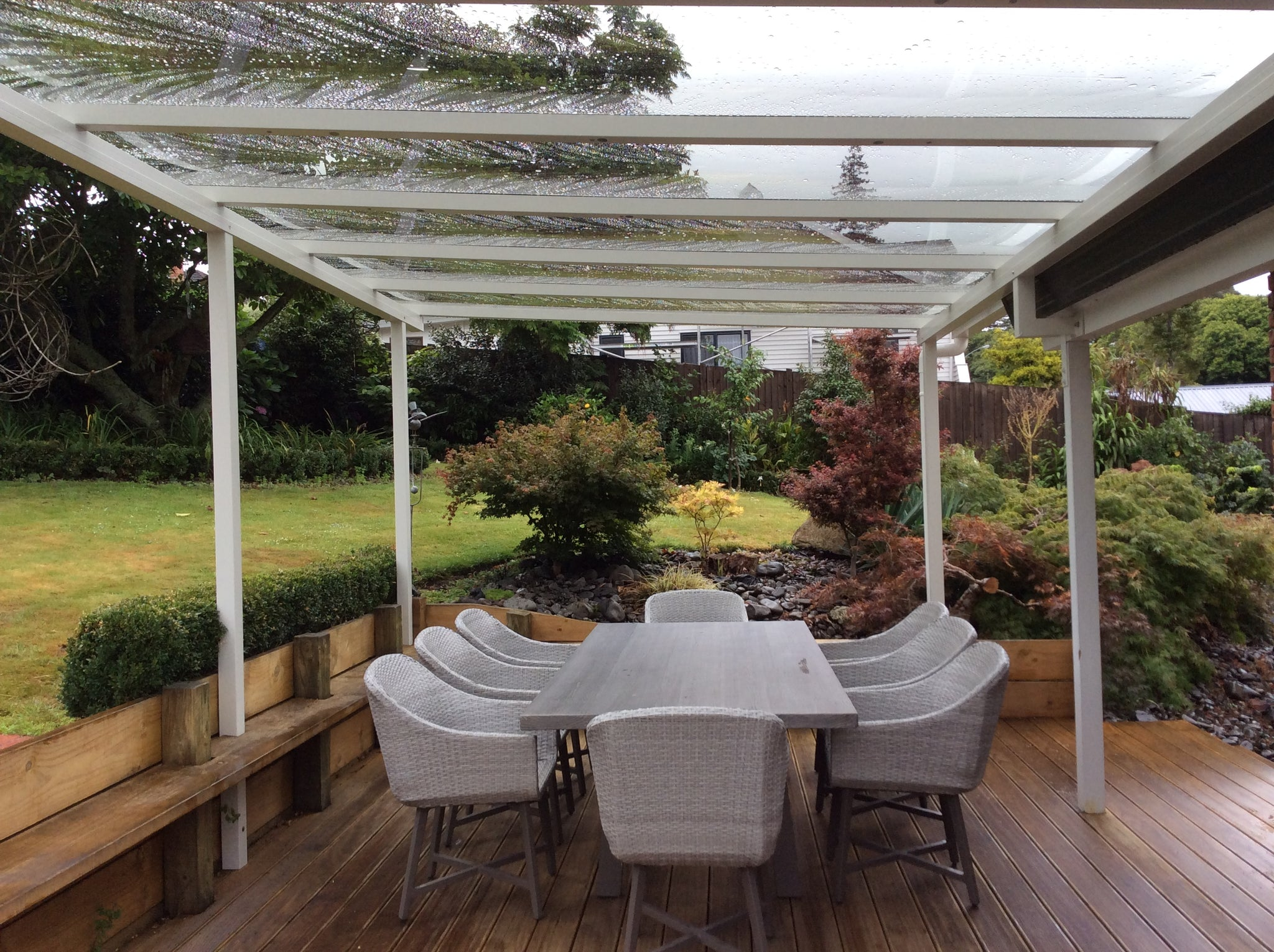 Self Supporting Pergola Wall Mounted Aluminum With Mobile
