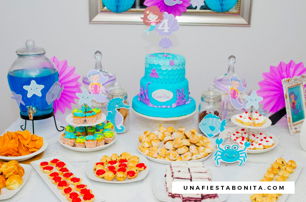 kit de fiesta imprimible ideas decoracion sirenas