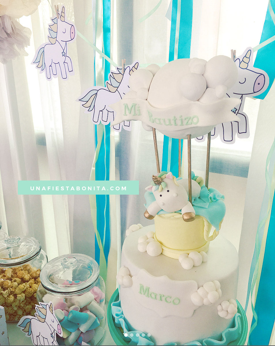 decoracion ideas para fiestas unicornio bautizo