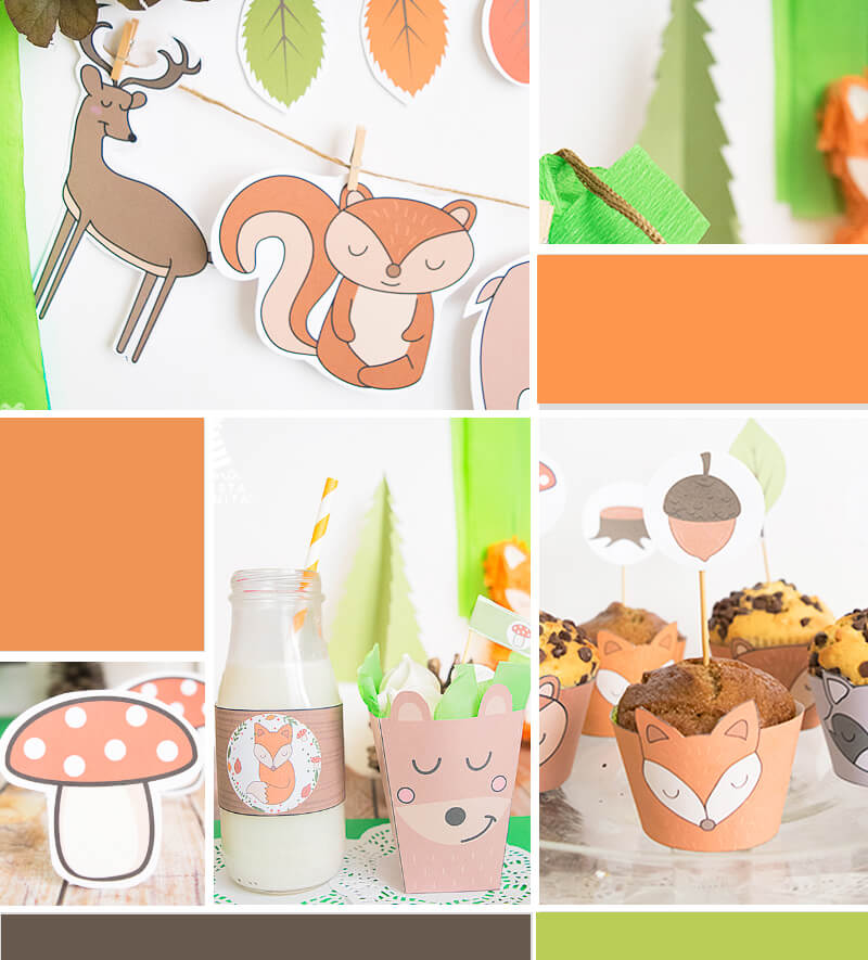 animalitos del bosque ideas para fiestas