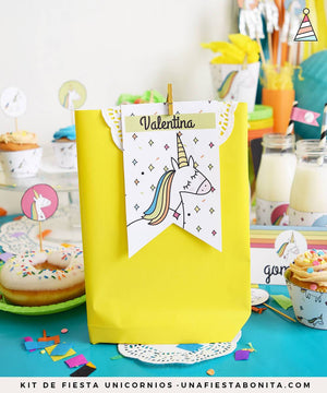 Kit imprimible Unicornio de colores