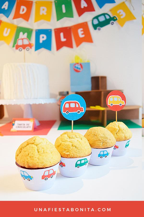 wrappers para cupcakes imprimibles carros