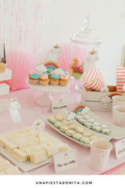 Kit imprimible para fiestas - Tema Cat Unicorn