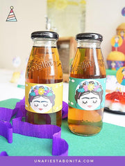 botellas etiquetas frida kahlo