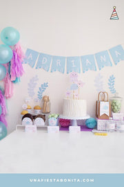 Kit para imprimir y decorar fiestas tema Mar