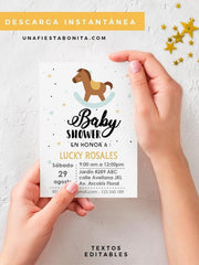 caballito invitacion baby shower