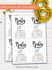invitación para baby shower imprimible