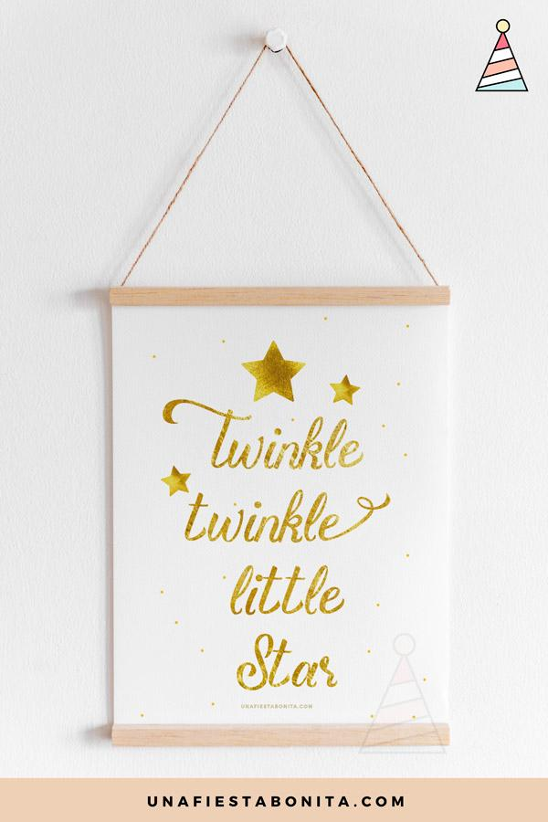 Lámina decorativa Twinkle Twinkle Little Star