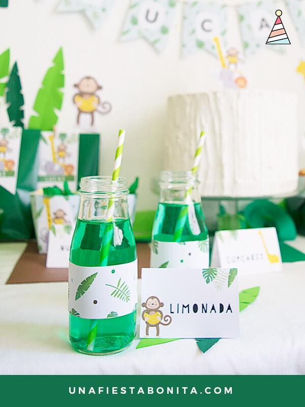 selva etiquetas para decorar botellas