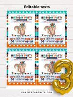 Printable tribal boy invitation