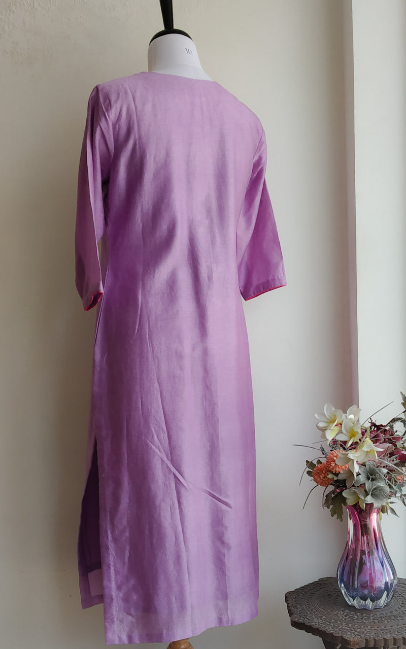Buy Lavender Knotwork Kurta Online at LabelKanupriya.