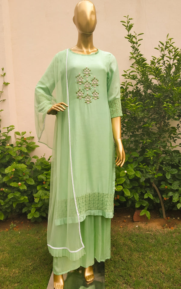 Pastel Green Handwork Kurta Set