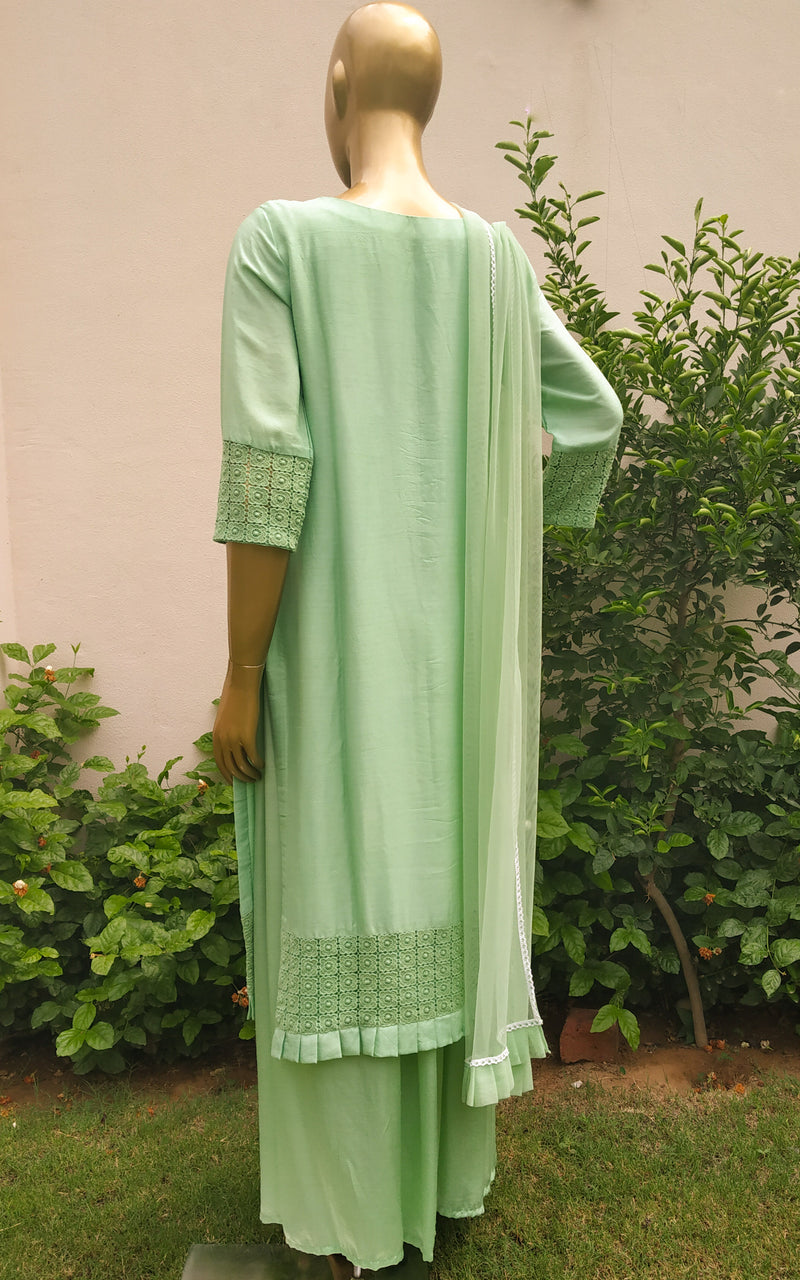 Buy Pastel Green Handwork Kurta Set Online at LabelKanupriya.