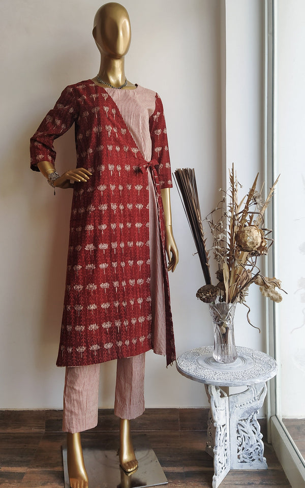 Geru Block Print Kurta and Pant Set