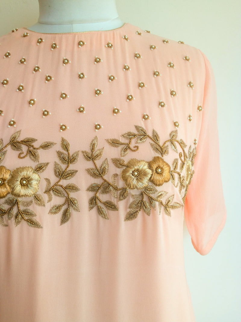 Buy Blush Shaded Handwork Tunic Online at LabelKanupriya.