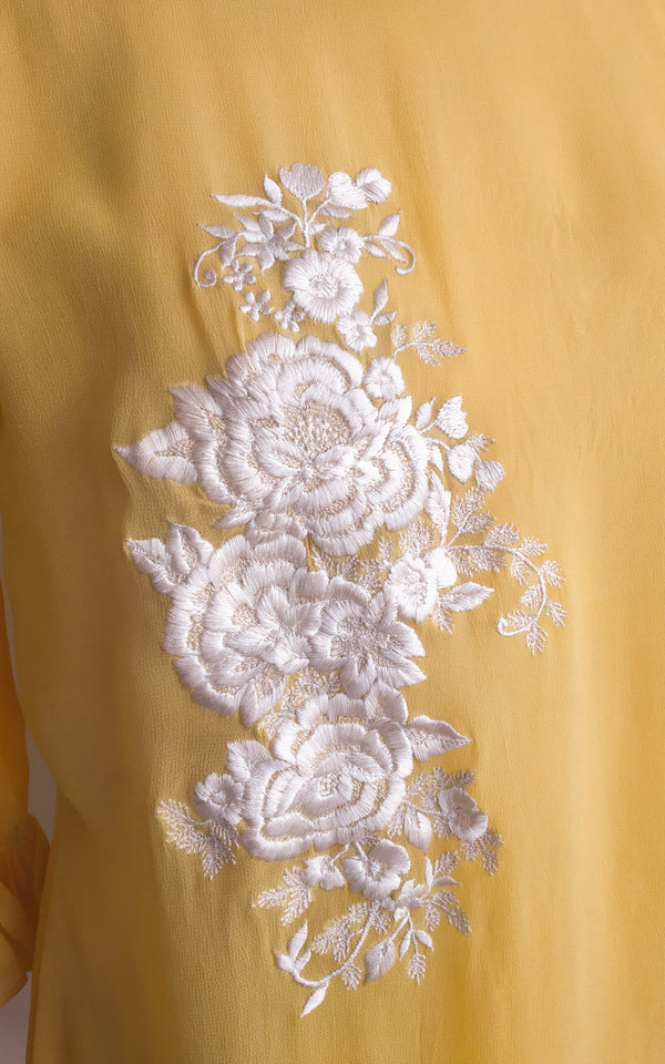 Buy Yellow Embroidered Top Online at LabelKanupriya.