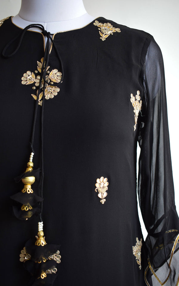 Black Gota Patti Tunic