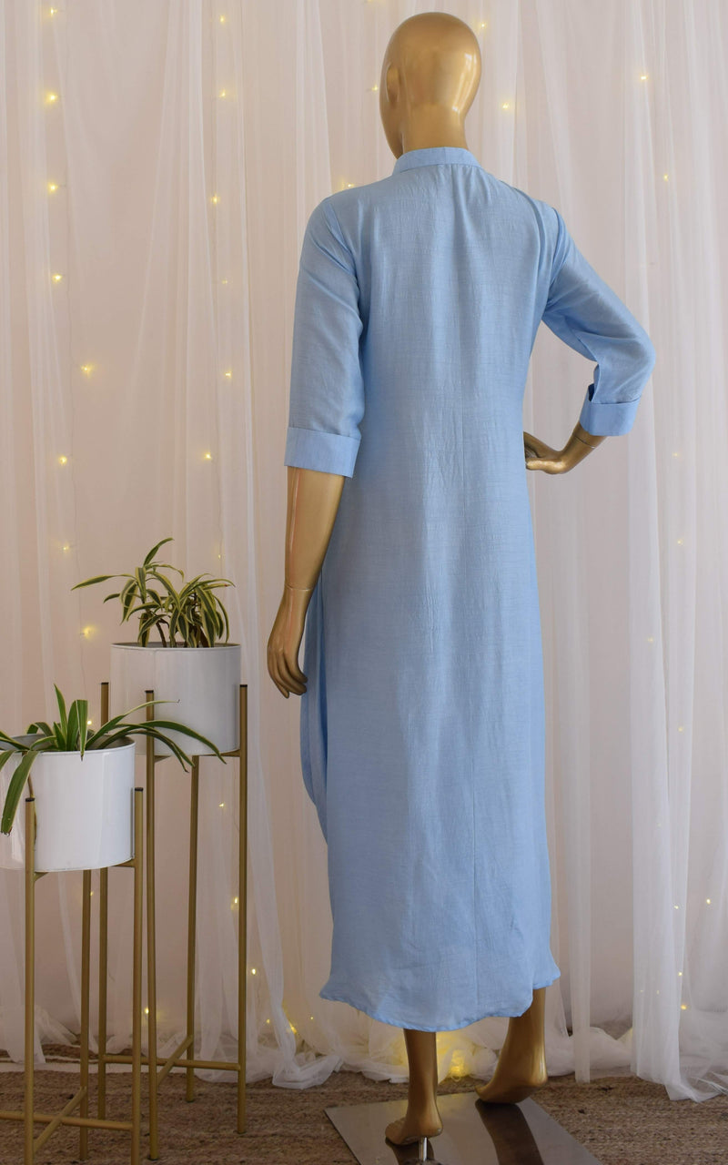 Powder Blue Gota Patti Drape Tunic