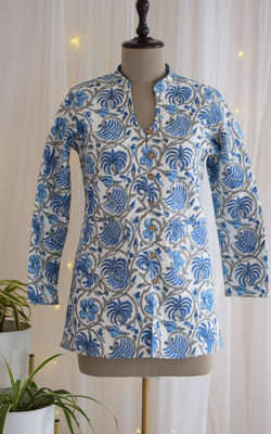 Udaipur Block Print Reversible Quilted Jacket
