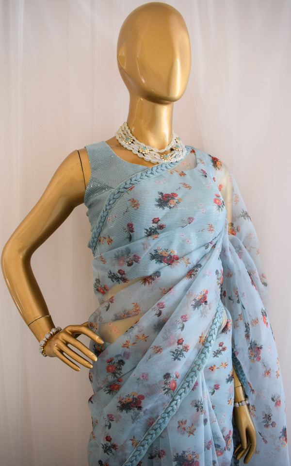 Wildflower Organza Saree