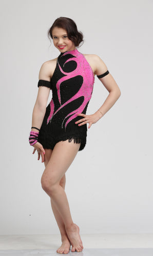 Hot, Sexy, Powerful design dress for Latin Music in Free Style or Ice Dancing.