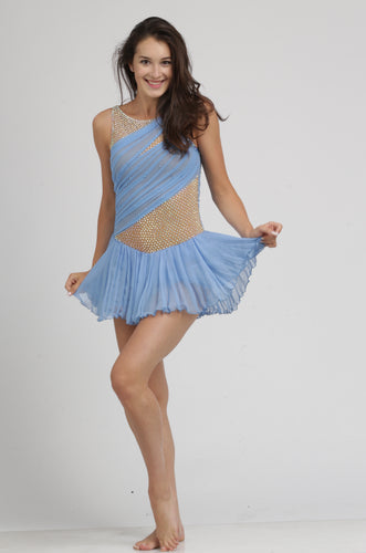 Isadora Duncan wearing beautiful Tania Bass ice skating dress