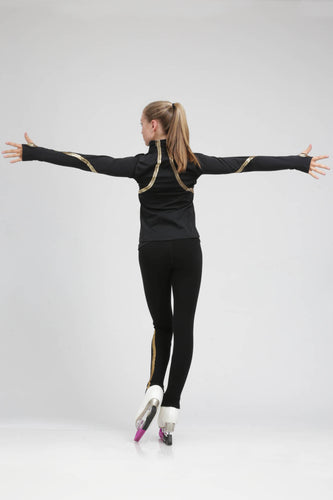 Sleek lightweight jacket for the rink or about town by Tania Bass