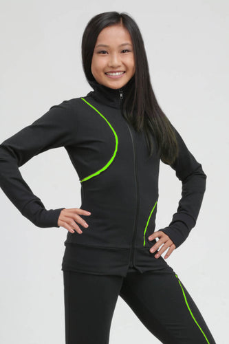 Signature Ripped Swirl Jacket Neon Green